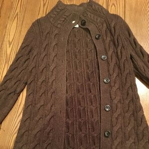 LL Bean Cable Knit Duster